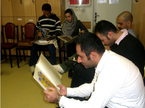 Tutors learning about the concept of hope in children's books - Read with Me in Mahak Hospital