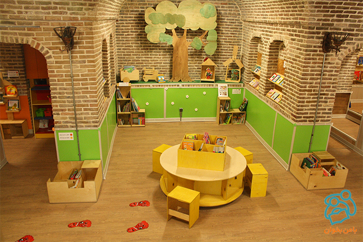 Child-centered library of Koosha House of kids - Sep 2015