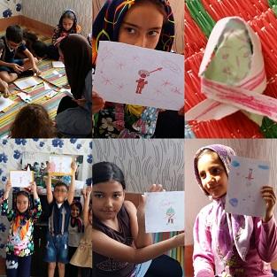 فعالیت های در پیوند با بلندخوانی - با من بخوان در بنیاد کودک قرچک ورامین- مهر1394