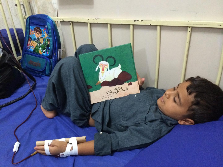 کتابهای با من بخوان برای کودکان بیمارستان علی اصغر زاهدان- مهر 1394