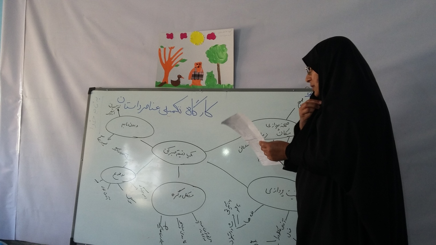 Tutors in a Story Elements workshop - Read with Me in Kuhdasht - Apr 2016