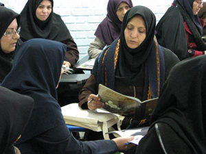Teachers and tutors in Book Related Art Activities Workshop - Read with Me in South Khorasan - Dec 2015
