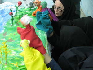 Scene from a Story made by Tutors in RWM Workshop - Read with Me in South Khorasan - Dec 2015