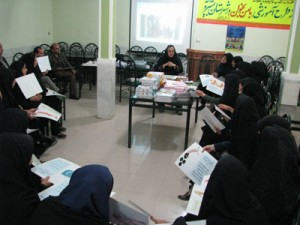 Teachers and tutors in reading aloud workshop - Read with Me in South Khorasan - December 2015
