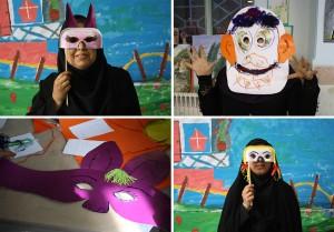 Making Masks in RWM Art Activities Workshop - Read with Me in Zahedan - December 2015