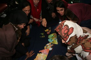 Tutors learning the sequence of events in Story Elements workshop - Read with Me in Cultural Heritage Organization - Dec 2015