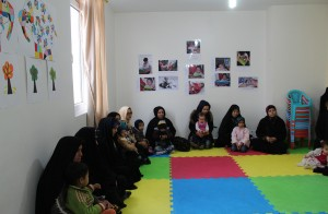 Mothers in babies and toddlers workshop - Read with Me in MahmoudAbad - Jan 2015