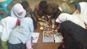 Children taking part in book related activities - Read with Me in Zahedan - Jan 2016