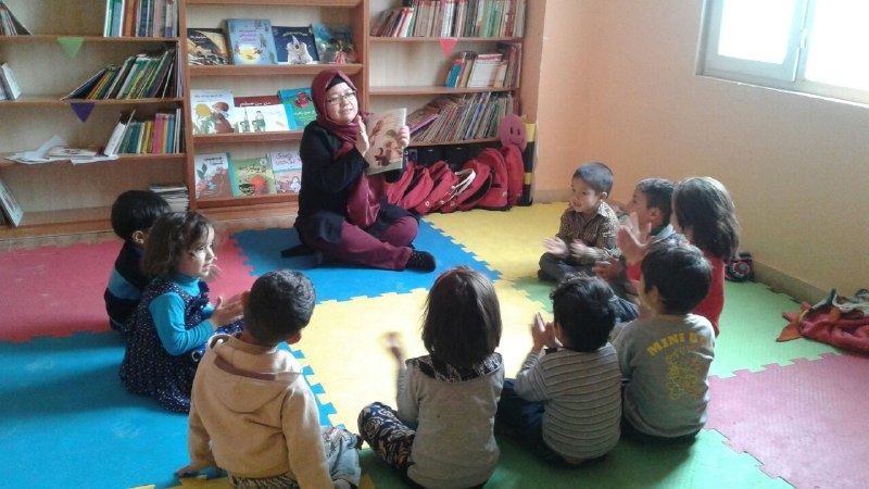 Children in a Book Reading Session - Read with Me in MahmoodAbad