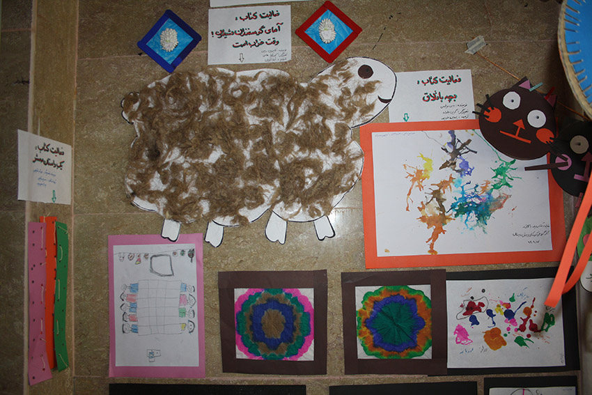 Paintings, crafts and other kids handmade activities done related to books - Read with Me in MahmoodAbad