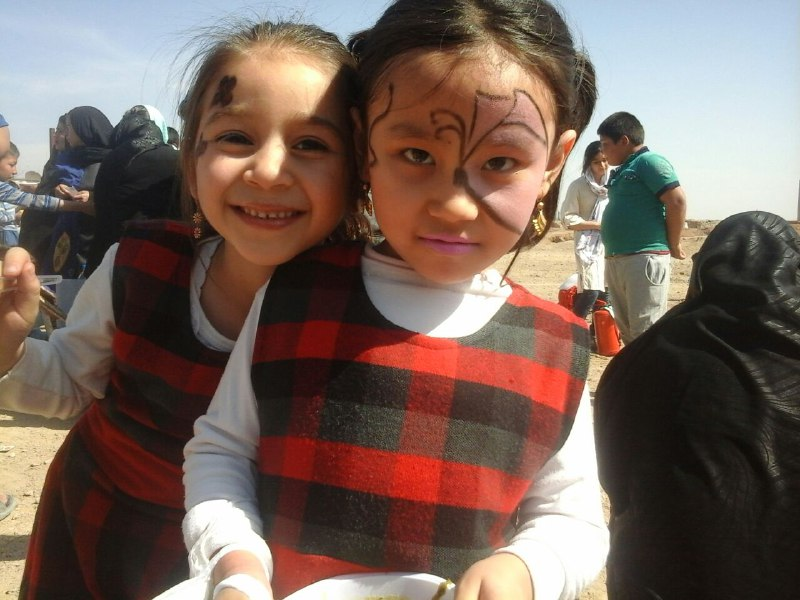 children in open air ceremony of Chaharshanbeh Soori - Read with Me in MahmoodAbad