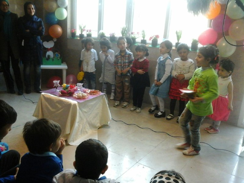 Performing a play about Haft-Seen (an Iraninan traditional tabletop fo New Year) - Read with Me in MahmoodAbad