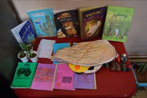 Quality Books and Handmade Books by children - Read with Me in Boshrouyeh - April 2016