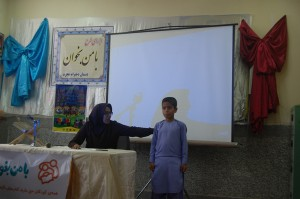 A child talks about his memorable experiences in Read with Me project - RWM Final Meeting in Zabol - May 2016