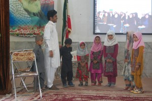Nomad students and their teachers performing a song in Read with Me Final Meeting in Zabol and Zahedan - May 016