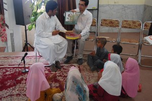 Nomad students and their teachers performing a song in Read with Me Final Meeting in Zahedan - May 016