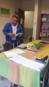 Workers looking at books in RWM Library - RWM in Sazvar Sazeh Company - June 2016
