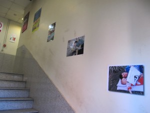 """""""Memorials of Reading with Each Other"""" photography competition selected pictures exhibited on the walls of the company"""