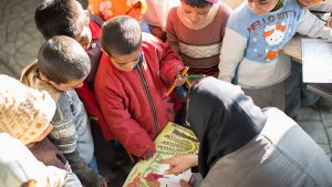 Children in a Book Reading Session - Read with Me in South Khorasan 2016