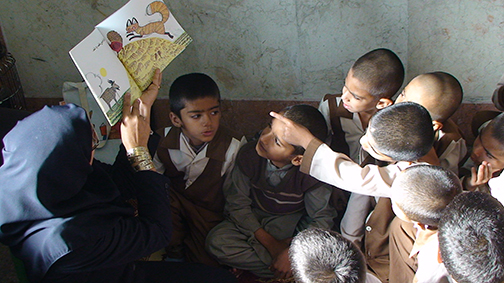 Children in a Book Reading Session - Read with Me in Sistan and Balouchestan 2016
