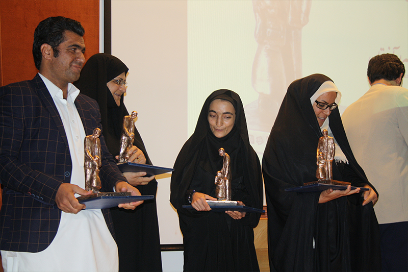 Jabbar Baghcheban award winners in Read with Me Conference
