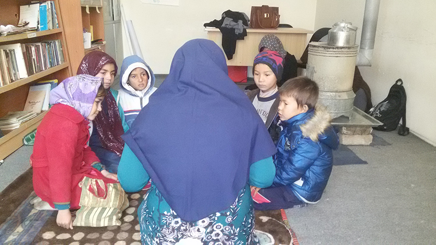 Children in a Book Reading Session - Read with Me in Mazar-e-Sharif (2016)