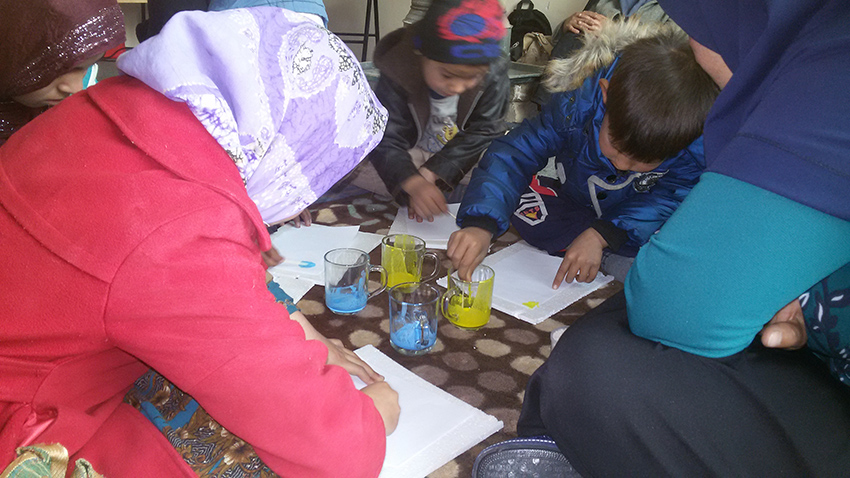 Children taking part in book related activities - Read with Me in Mazar-e-Sharif (2016)v
