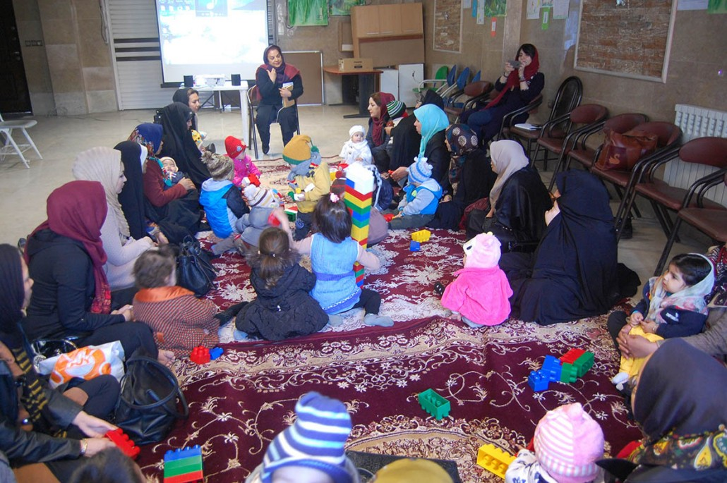 Mothers in children in the Gathering of the Reading with Babies and Toddlers Program - Read with Me in MahmoudAbad - January 2017