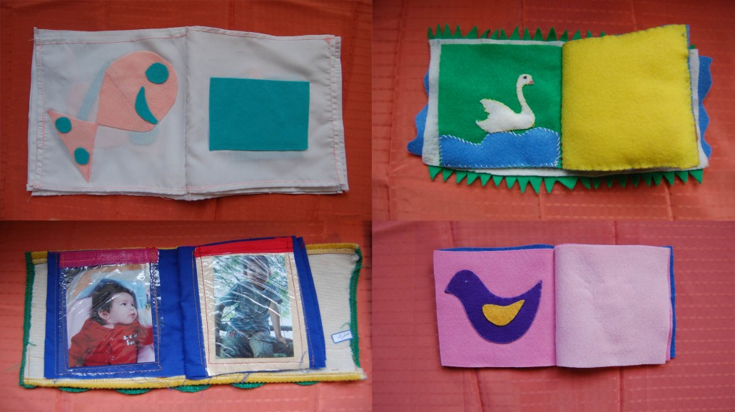 Handmade Books by Mothers in children in the Gathering of the Reading with Babies and Toddlers Program - Read with Me in MahmoudAbad - January 2017
