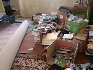 کتابخانه سلخ پیش از بازسازی توسط با من خوان