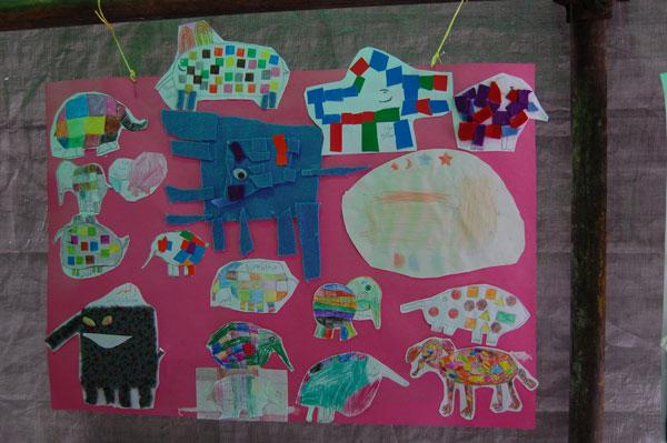 An exhibition of children's book-related activities