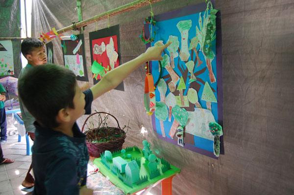 نمایشگاهی از فعالیتهای کودکان در پیوند با «با من بخوان»