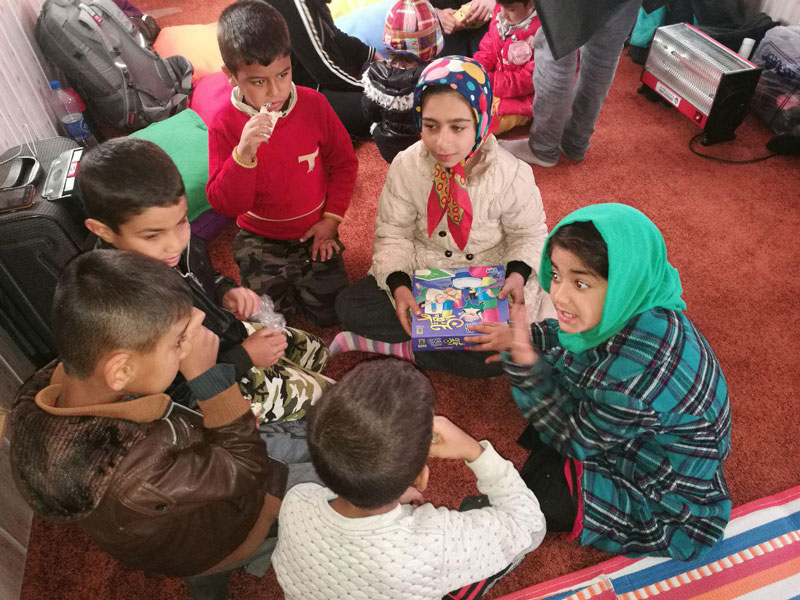 Read with Me Child-Centered Library, a shelter for children after Kermanshah earthquake