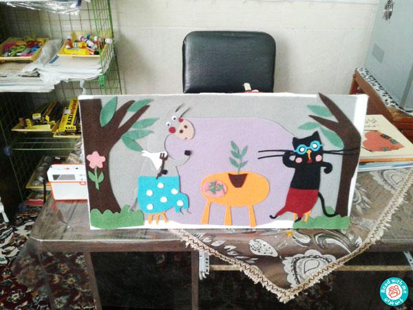تابلوی سیبیلک در مهدکودک ستاره سهیل