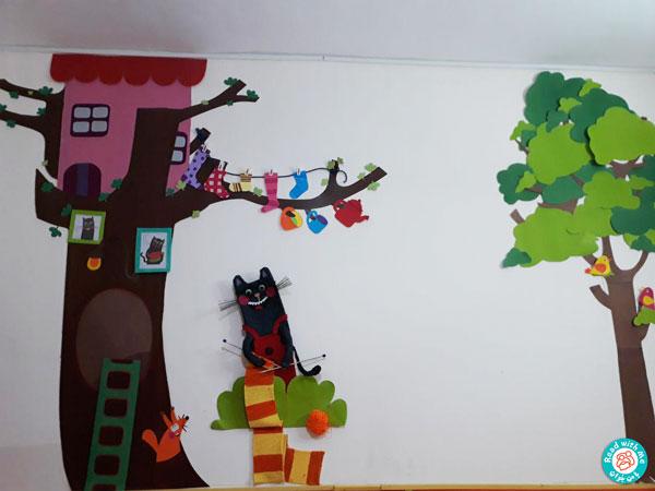 دیوار سیبیلک (شخصیت کتاب آواورزی با سیبیلک) در مهد کودک ستاره سهیل، خوانسار