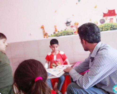 بلندخوانی در بیمارستان محمد کرمانشاهی، کرمانشاه، مهر 96