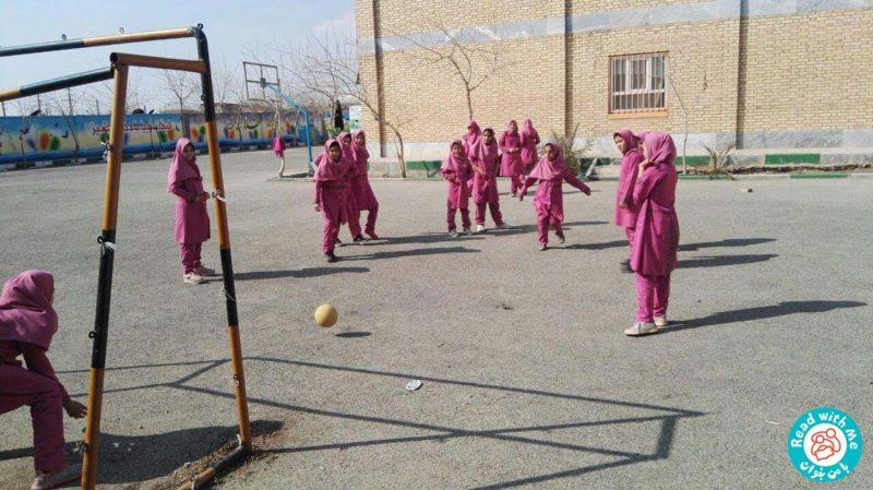 بلندخوانی داستانکهای نخودی( نخودی و فوتبال)، محمودآباد، بهمن 96