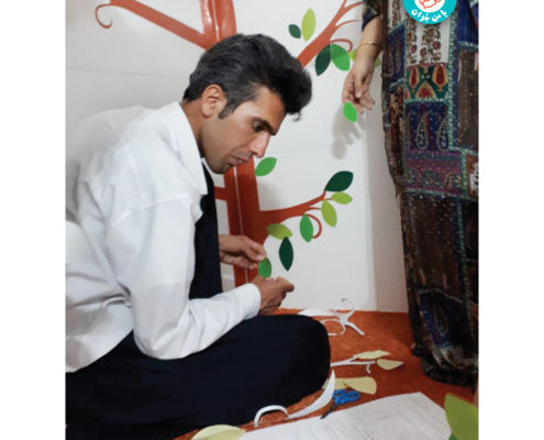 آماده سازی کتابخانه ثلاث در شهرستان پاوه، ثلاث باباجانی، تیر 97