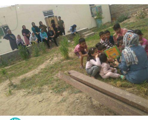 ترویجگران «با من بخوان» در تعطیلات نوروزی هم کودکان را از یاد نبردند!