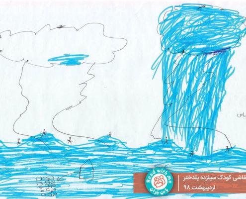 نقاشی ابزاری برای رهایی از اضطراب و اندوه کودکان سیلزده