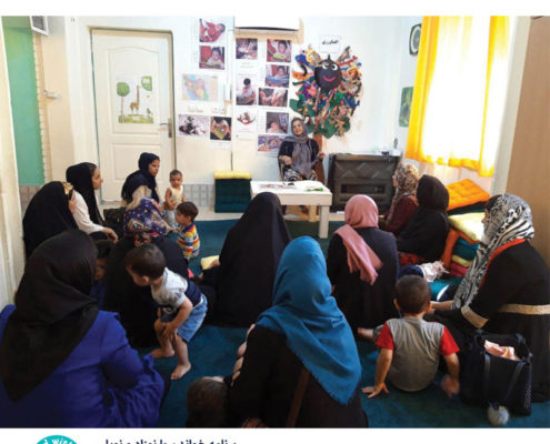 اجرای کارگاههایی با محوریت کتابخوانی برای مادران و نوزادان
