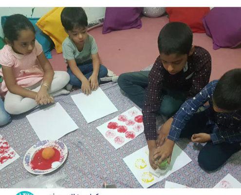 فعالیت روز ملی چاپ در کتابخانه کودکمحور جیرفت