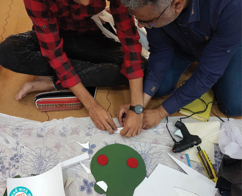 استقبال مربیان جزیرهی قشم از کارگاههای آموزش خلاق سواد پایه و هنر