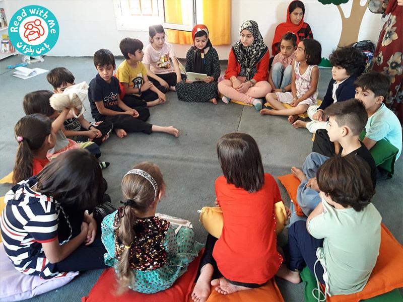 بلندخوانی کتاب کازیمیز در کتابخانه جوانرود