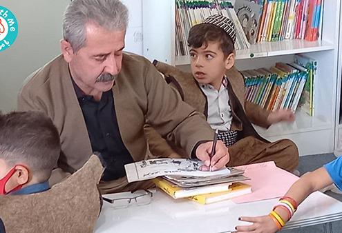 بزرگداشت روز شعر و ادب با کودکان